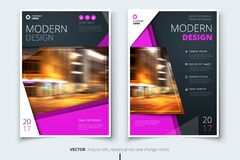 Cover design for brochure, flyer, report, catalog, presentation, poster. Modern layout template in A4 size stock illustration
