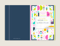Cover design for Brochure leaflet flyer. Modern background line art. Abstract geometric colorful background. A4 size. Stock Photos