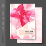 Cover design for business brochure, annual report. Book cover, magazine , party poster. Light blank inner page, with matching pattern. Vector template for royalty free stock image