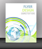Cover design, business flyer template, folder Royalty Free Stock Photo