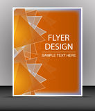 Cover design, business flyer template, folder. Design for print, publishing, presentation with place for your content or creative editng Royalty Free Stock Photos