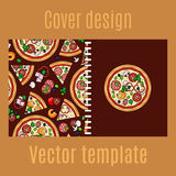 Cover design with cartoon pizza Royalty Free Stock Photo
