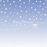Cover design for Christmas greeting cards. Cover design for Christmas greeting card.The snowflakes and the phrase 'Merry Christmas' on the blue background Royalty Free Stock Photography
