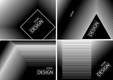 Cover Design Collection in Halftone Gradients Stock Images
