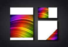 Cover design color templates Royalty Free Stock Photo