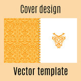 Cover design with colored arabic pattern Royalty Free Stock Image
