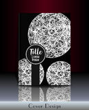 Cover design. Cover template with round shapes and place for your text. Can be used for cover book, notebook, artbook, sketchbook, diary, journal, catalog royalty free illustration
