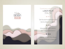 Cover design with curved shapes as a wave or hill. Brochure, flyer, invitation or certificate. Material design Stock Photo