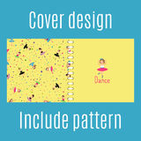 Cover design with dancing girls pattern Stock Photo