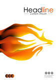 Cover design with fire flames in A4. Vector Royalty Free Stock Images