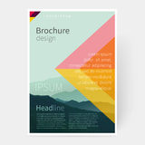 Cover design flyer template royalty free illustration