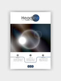 Cover design futuristic circles with dark blue metal colours ba royalty free illustration