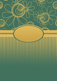 Floral Menu Cover Green Golden Royalty Free Stock Photo