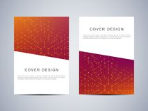Cover design with hexagonal background Royalty Free Stock Photo