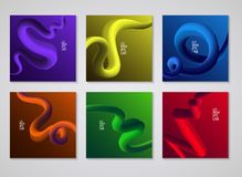 Cover design. Liquid colorful shapes backgrounds. Futuristic design posters. vector, Eps 10 Stock Photos