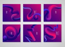 Cover design. Liquid colorful shapes backgrounds. Futuristic design posters. vector, Eps 10 Stock Images