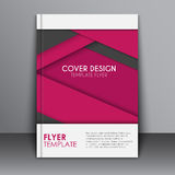 Cover design in the material style Stock Photos