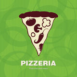 Cover design the menu for pizzeria. Vector available Stock Illustration