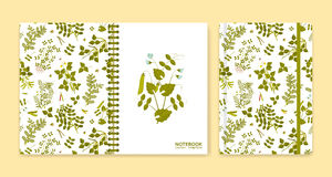Cover design for notebooks or scrapbooks with legume plants Royalty Free Stock Image