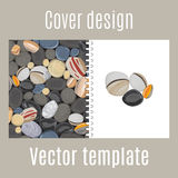 Cover design with river stones pattern. Cover design for print with river stones pattern. Vector illustration royalty free illustration
