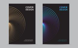 Cover Design Template. Modern design cover. Abstract lines background. Vector illustration. Cover Design Template. Abstract lines background. Modern design cover royalty free illustration