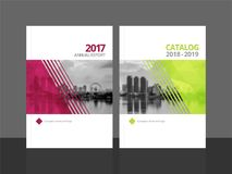 Cover design template annual report and catalog royalty free illustration