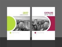 Cover design template annual report and catalog vector illustration