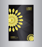 Cover design template on black background Stock Images
