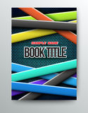 Cover design template colours ribbons. Vector illustration. Can use for cover and poster printing stock illustration