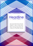 Cover design template with futuristic circles as radio wave and. Arrows. Technology background. Vector. Good for web publications and print Royalty Free Stock Photos