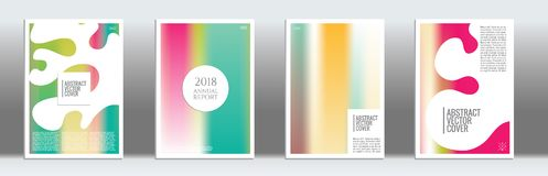 Modern cover template. Cover design template. Notebook creative layout. Background for corporate annual report, poster, magazine first page. Minimal leaflet Stock Photography