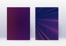 Free Cover Design Template Set. Abstract Lines Modern B Stock Photo - 143925020