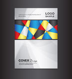 Cover design template on silver background Royalty Free Stock Photos