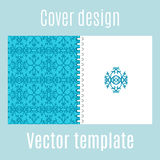 Cover design with traditional arabic pattern Royalty Free Stock Photo