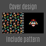 Cover design with tribal masks pattern Royalty Free Stock Photos