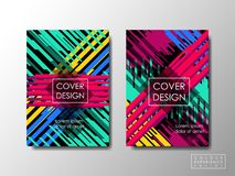Cover design vector background, editable document brochure layout Royalty Free Stock Photography
