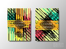 Cover design vector background, editable document brochure layout Stock Photography
