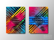 Cover design vector background, editable document brochure layout, vivid colors special Royalty Free Stock Images