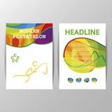 Cover Design vector Modern Pentathlon sport icon. Stock Photography