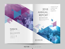 Cover design, vector template brochures. Cover design annual report,vector template brochures, flyers, presentations, leaflet, magazine a4 size. White with blue Royalty Free Stock Photo