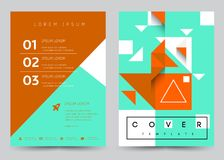 Cover Design Vector template set Brochure, Annual Report,. Magazine, Poster, Corporate Presentation, Portfolio, Flyer, Banner, Website. A4 size royalty free illustration