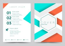 Cover Design Vector template set Brochure, Annual Report. Magazine, Poster, Corporate Presentation, Portfolio, Flyer, Banner, Website. A4 size stock illustration