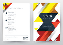 Cover Design Vector template set Brochure, Annual Report, Magazine, Poster, Corporate Presentation, Portfolio, Flyer, Banner, Webs. Cover Design Vector template Royalty Free Stock Photo