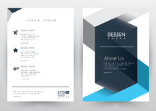 Cover Design Vector template set Brochure, Annual Report, Magazine, Poster, Corporate Presentation, Portfolio, Flyer, Banner, Webs. Cover Design Vector template royalty free illustration