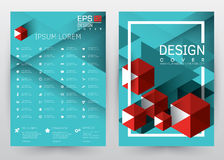 Cover Design Vector template set Brochure, Annual Report, Magazine, Poster, Corporate Presentation, Portfolio, Flyer, Banner, Webs. Cover Design Vector template Royalty Free Stock Photos