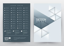 Cover Design Vector template set Brochure, Annual Report, Magazine, Poster, Corporate Presentation, Portfolio, Flyer, Banner, Webs. Cover Design Vector template stock illustration