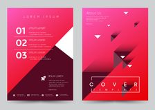 Cover Design Vector template set Brochure, Annual Report, Magazine, Poster, Corporate Presentation, Portfolio, Flyer, Banner. Cover Design Vector template set stock illustration