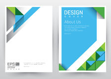 Cover Design Vector template set Brochure, Annual Report, Magazine, Poster, Corporate Presentation, Portfolio, Flyer, Banner. Cover Design Vector template set of stock illustration