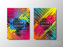 Cover design with vivid high contrast, vector background, editable document brochure layout, vivid colors special Royalty Free Stock Photos