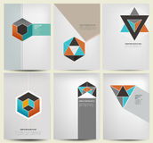 Cover design. Whit modern geometry flat illustration Royalty Free Stock Images